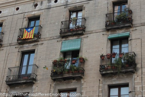 And Catalonian flags.