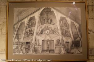 Gaudi's original sketches.