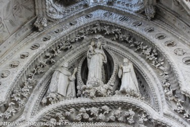 Over the main door--the sacred family.