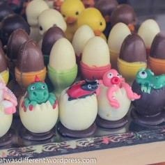 Marzipan Easter eggs.