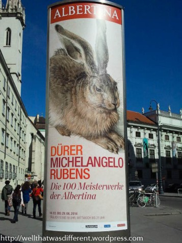 Arty bunny at the Albertina.