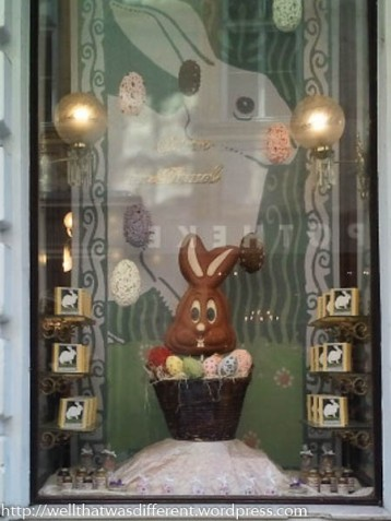 Fancy chocolate bunny.