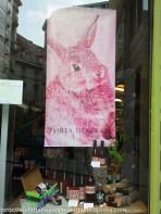 Classy wine shop bunny.