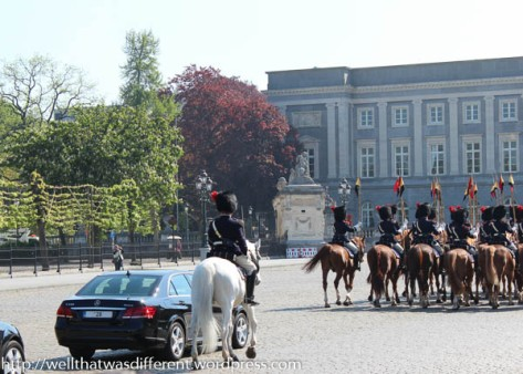 Escorting the royal convoy