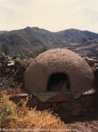An abandoned oven in one of many ruined villages out on the plain.