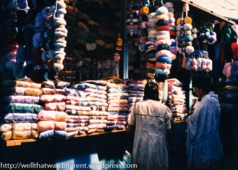 Knitting was big--La Paz gets very cold!