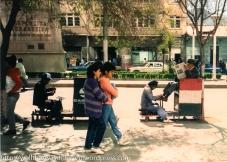 Shoeshine guys on the Prado.