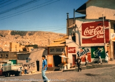 A neighborhood up one of the sides of the valley--which is to say a typical La Paz neighborhood.