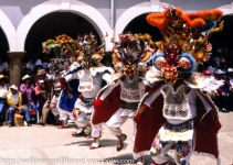 Performing the diablada