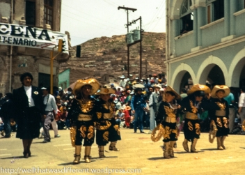 A group of boys dressed as caballeros