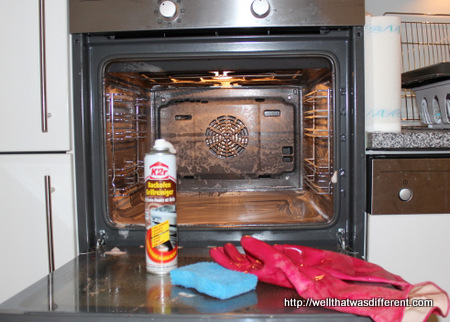 This is what oven cleaning looks like.
