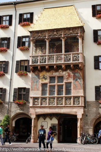 The Goldenes Dachl (golden roof) of Emperor Maximilian I. He was a big show off.
