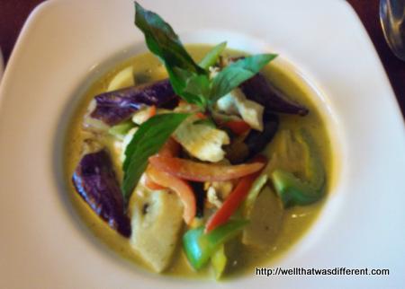 Thai green curry, yum!