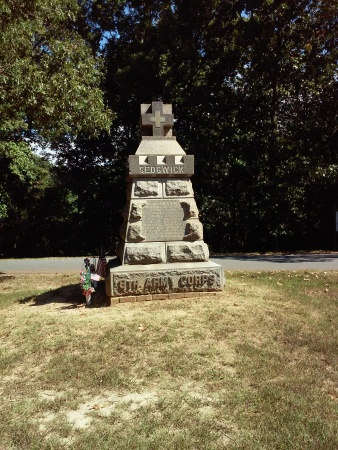 Monument to the unlucky General Sedgwick.