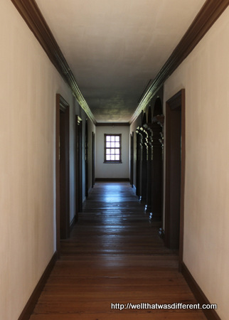 Upstairs are seven bedrooms for his nine children and many servants.