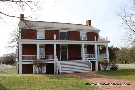 The McLean house, where the surrender treaty was signed.
