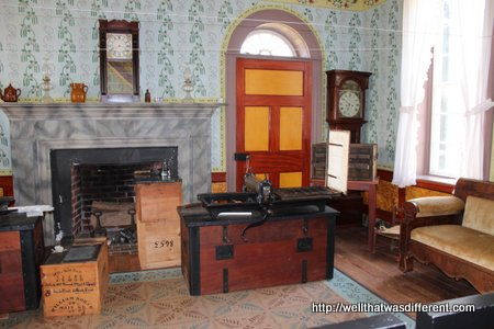 The printing press itself.