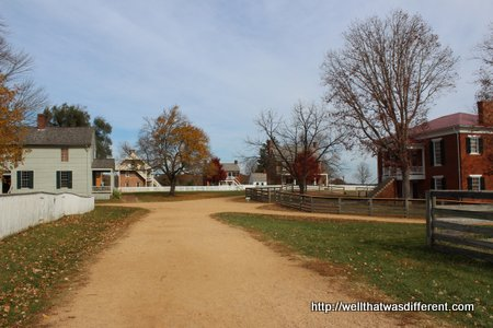 The village of Appomattox Court House.