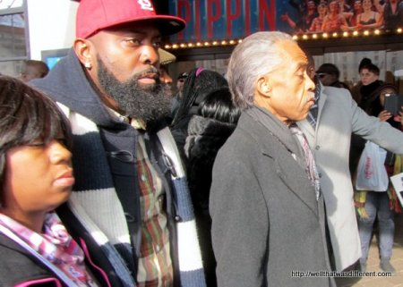 Michael Brown Sr., and Al Sharpton