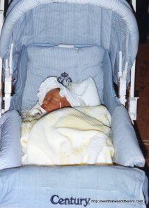 Our first stroller.