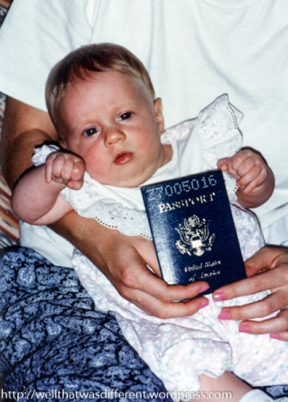 Little did she know how often she'd be using that passport!