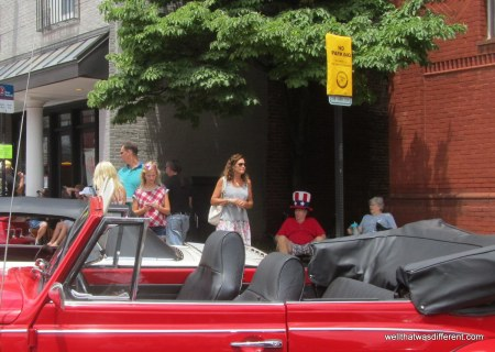 Most of the cars were owned by old folks wearing their best Fourth of July gear.