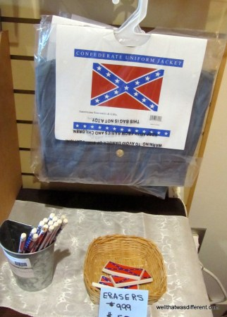 Buy your Confederate erasers here. Really, I don't care, but it is interesting how many things have Confederate flags on them now we're all noticing them.