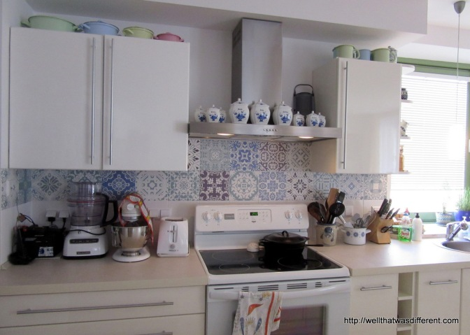 Government Housing Hack: Kitchen Decals
