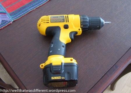 DeWalt 12V cordless drill/screwdriver. Thanks, Mom!