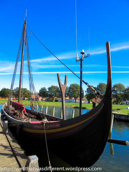 Reconstruction of a Viking warship.