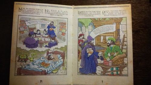 A graphic novel about the life of a famous rabbi. One of many modern approaches in the exhibition.