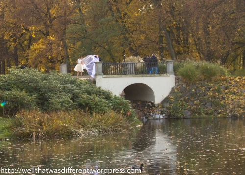 Another bridal shoot on a different bridge.