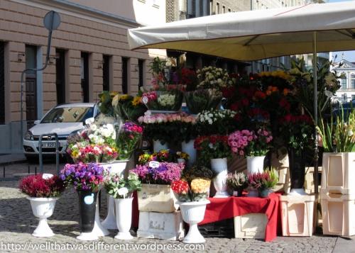 Flower stand.