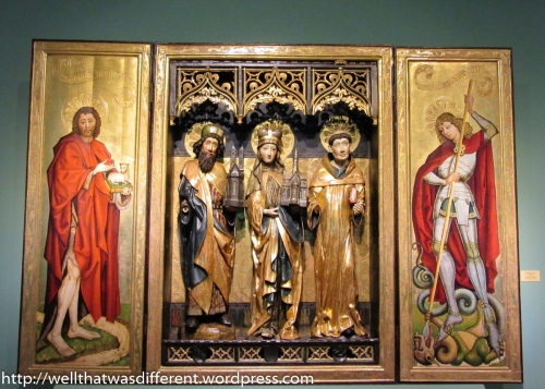 Beautiful altarpiece.