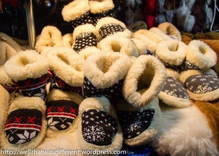 Sheepskin (or faux sheepskin) slippers are a popular gift.