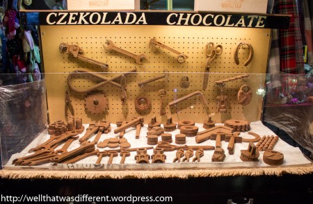 I love this. Chocolate tools for a hardworking people!