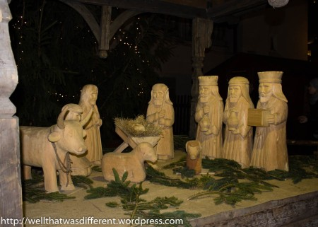 Nativity scene at the market hall.