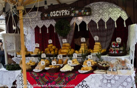 Oscypek is a salty, smoked sheep's milk cheese that is made in the Tatras area of Poland.