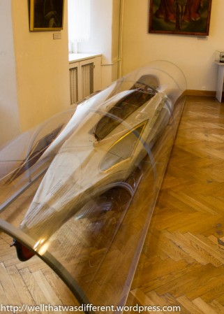 And here is the Pope's kayak.