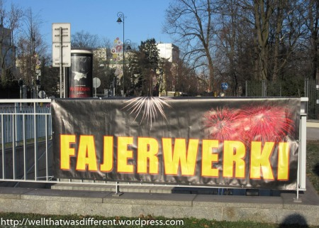 "Phonetic version of ""firework"" with a Polish plural ending."