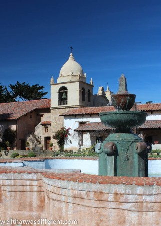 The Mission courtyard.