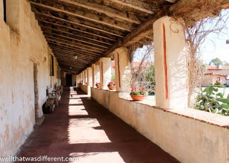 Pretty corridor at the Mission.