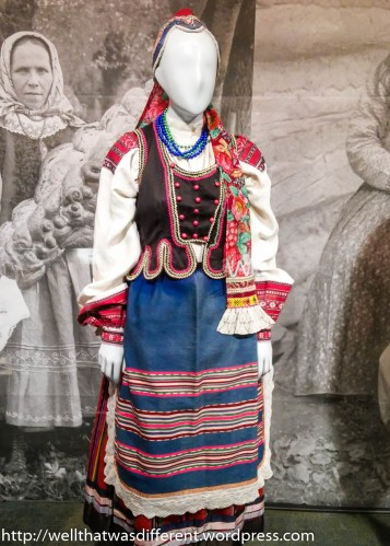 There was a large exhibit of various European regional clothing.