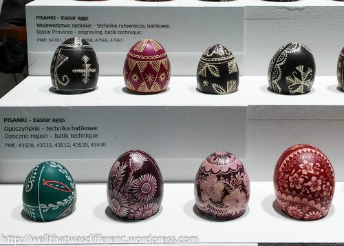 Some pysanki, or Polish painted eggs.