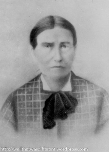 My great-great grandmother, Jane Shaw Kelly, the tailor.