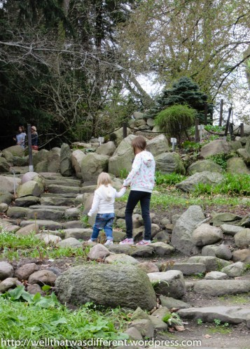 Exploring the rock garden. (There are always kids everywhere in Poland!)