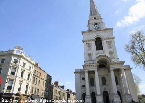 The Anglican Christ Church, Spitalfields, was built to remind the Huguenots which religion was the boss.