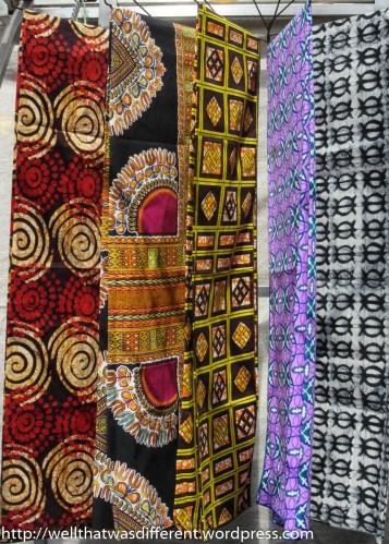 West African fabrics.