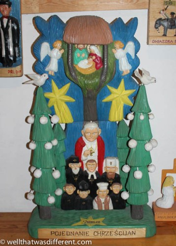 Nativity with Pope JP II.