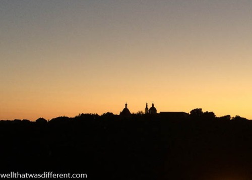 Sundown from the terrace.